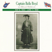 1995 Atlas, Civil War Cards, #01.10 Captain Belle Boyd