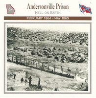 1995 Atlas, Civil War Cards, #01.13 Andersonville Prison