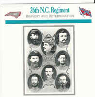 1995 Atlas, Civil War Cards, #02.16 26th North Carolina Regiment
