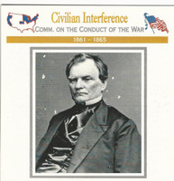 1995 Atlas, Civil War Cards, #03.02 Civilian Interference, Benjamin Wade