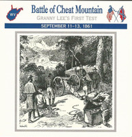 1995 Atlas, Civil War Cards, #03.03 Battle of Cheat Mountain, Virginia