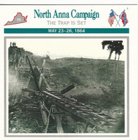 1995 Atlas, Civil War Cards, #03.06 North Anna Campaign, Virginia