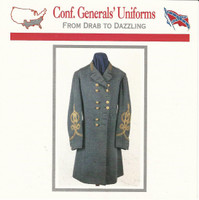 1995 Atlas, Civil War Cards, #03.09 Confederate General's Uniform