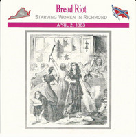 1995 Atlas, Civil War Cards, #03.17 Bread Riot, Richmond, Virginia