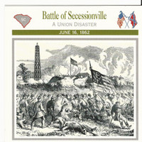 1995 Atlas, Civil War Cards, #04.04 Battle Secessionville, South Carolina