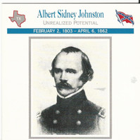 1995 Atlas, Civil War Cards, #04.12 Albert Sidney Johnston, Texas