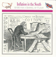 1995 Atlas, Civil War Cards, #04.17 Inflation in the South
