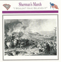 1995 Atlas, Civil War Cards, #06.07 Sherman's March, Georgia