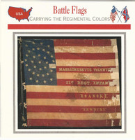 1995 Atlas, Civil War Cards, #06.09 Battle Flags, 21st Massachusetts