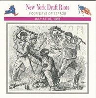 1995 Atlas, Civil War Cards, #06.17 New York Draft Riots