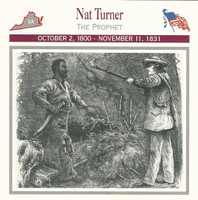 1995 Atlas, Civil War Cards, #07.01 Nat Turner, Slave, Virginia