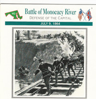 1995 Atlas, Civil War Cards, #07.06 Battle Monacacy River, Maryland