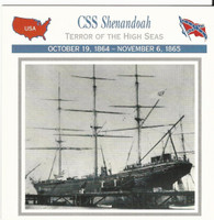 1995 Atlas, Civil War Cards, #07.08 CSS Shenandoah, Ship