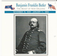 1995 Atlas, Civil War Cards, #07.12 General Benjamin Franklin Butler