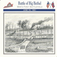 1995 Atlas, Civil War Cards, #08.03 Battle of Big Bethel, Virginia