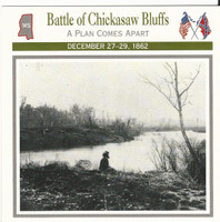 1995 Atlas, Civil War Cards, #08.04 Battle Chickasaw Bluffs, Mississippi