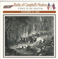 1995 Atlas, Civil War Cards, #08.06 Battle Campbell's Station, Tennessee
