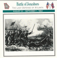 1995 Atlas, Civil War Cards, #08.07 Battle Jonesboro, Atlanta, Georgia