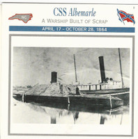 1995 Atlas, Civil War Cards, #08.10 CSS Albemarle, Ship