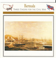 1995 Atlas, Civil War Cards, #08.20 Bermuda, Blockade Runners, Ship