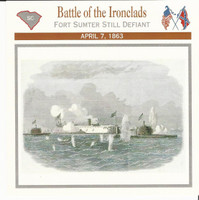 1995 Atlas, Civil War Cards, #09.03 Battle of the Ironclads, Charleston