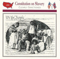 1995 Atlas, Civil War Cards, #10.01 Constitution On Slavery, Beaufort SC