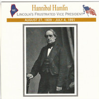 1995 Atlas, Civil War Cards, #10.02 Hannibal Hamlin, Vice President