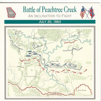1995 Atlas, Civil War Cards, #10.08 Battle of Peachtree Creek, Georgia