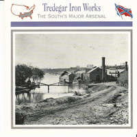1995 Atlas, Civil War Cards, #10.17 Tredegar Iron Works, Richmond VA