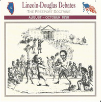 1995 Atlas, Civil War Cards, #20.01 Lincoln Douglas Debates
