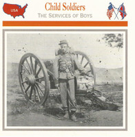 1995 Atlas, Civil War Cards, #20.15A Child Soldiers, Union Drummer