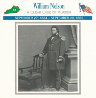 1995 Atlas, Civil War Cards, #20.17 General William Nelson, Kentucky