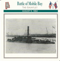 1995 Atlas, Civil War Cards, #22.09 Battle of Mobile Bay, CSS Tennessee