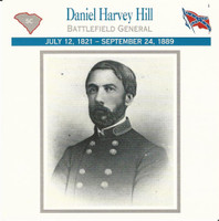 1995 Atlas, Civil War Cards, #22.13 General Daniel Harvey Hill