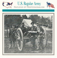 1995 Atlas, Civil War Cards, #22.15 U.S. Regular Army, Artillery