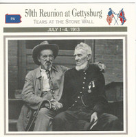 1995 Atlas, Civil War Cards, #22.20A 50th Reunion at Gettysburg