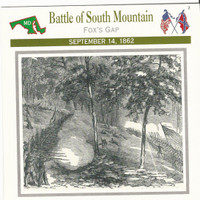 1995 Atlas, Civil War Cards, #23.06 Battle of South Mountain, Maryland