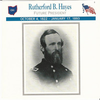 1995 Atlas, Civil War Cards, #23.13 President Rutherford B. Hayes