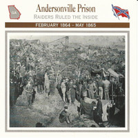 1995 Atlas, Civil War Cards, #23.15 Andersonville Prison, Georgia