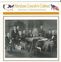 1995 Atlas, Civil War Cards, #24.02 Abraham Lincoln's Cabinet