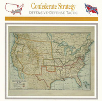 1995 Atlas, Civil War Cards, #24.03 Confederate Strategy, Map