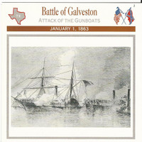 1995 Atlas, Civil War Cards, #25.06 Battle of Galveston, Texas