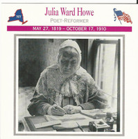 1995 Atlas, Civil War Cards, #25.18 Julia Ward Howe, Poet