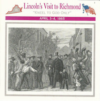 1995 Atlas, Civil War Cards, #25.19 Lincoln's Visit to Richmond