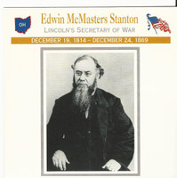 1995 Atlas, Civil War Cards, #26.02 Edwin Stanton, Secretary of War