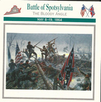 1995 Atlas, Civil War Cards, #26.09A Battle of Spotsylvania, Bloody Angle