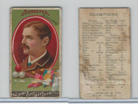 N162 Goodwin, Champions, 1888, Schaefer, Billiards