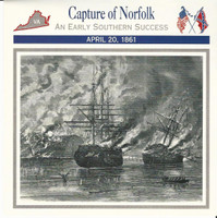 1995 Atlas, Civil War Cards, #27.05 Capture of Norfolk, Virginia