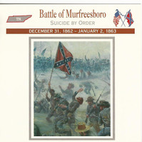 1995 Atlas, Civil War Cards, #27.08 Battle of Murfreesboro, Tennessee