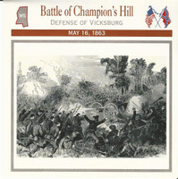 1995 Atlas, Civil War Cards, #27.09 Battle Champion's Hill, Vicksburg